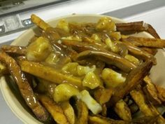 the traditional poutine from @GravytrainLA...i have only had them in quebec..miam!