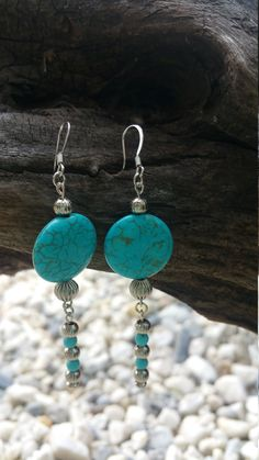 Hey, I found this really awesome Etsy listing at https://www.etsy.com/listing/248123938/blue-howlite-beaded-earing