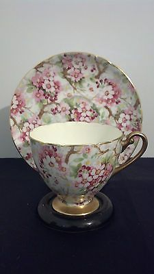 """GORGEOUS SHELLEY BONE CHINA ENGLAND """"MAYTIME"""" APPLE BLOSSOMS CUP"""