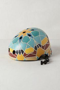 Handpainted Bike Helmet #anthrofave