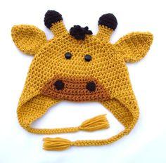 Crochet Giraffe Hat Pattern For Dogs : Crochet Animal Hats on Pinterest Crochet Animal Hats ...