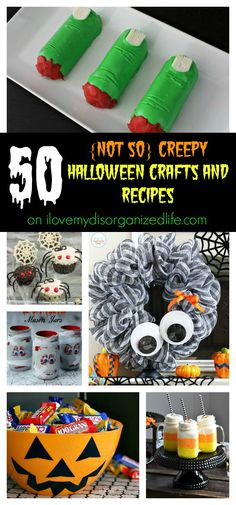 Get your fun on with these 50 {not so} creepy Halloween crafts and recipes!