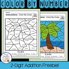Fern's Freebie Friday ~ Even and Odd Numbers Color By Numbers Freebie - Fern Smith's Classroom Ideas! Addition Activities, Addition Games, Addition Worksheets, Math Addition, Addition And Subtraction, 2nd Grade Math, Second Grade, Grade 2, Color By Numbers