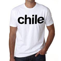 Chile Men's Short Sleeve Rounded Neck T-shirt