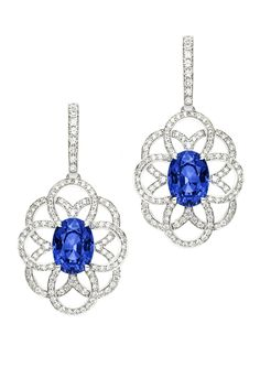 BO OB 18K, saphirs bleus taille ovale et diamants taille brillants - Extremely Piaget