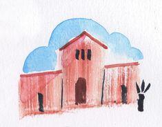 Mexican building sketch by Scott Jessop.