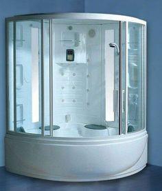 Wasauna SPECTRUM Steam Shower U0026 Tub, 2 Persons Capacity, 9 Hydro Massage  Jets