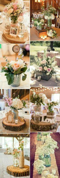 Quelques centres de table tout simples et fleuris