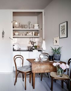 From a Scandi style to leather. Here are a few small kitchens chock full of solutions and inspiration to help you jazz up your tiny space and keep you cooking in style.