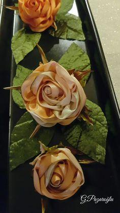 Teknik Tasarım İpek Kurdeleden Güllerim