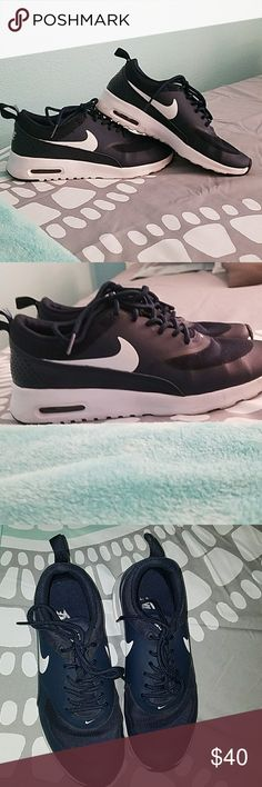 Nike Air Max Thea Navy blue nike air max. Lightly worn in great condition. Authentic. Will to negotiate price. No trades Nike Shoes Athletic Shoes