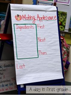 How to make applesauce in your classroom {recipe included} Great for Procedural writing! Apple Activities, Classroom Activities, Writing Activities, Classroom Ideas, Writing Ideas, Toddler Activities, Apple Classroom, Halloween Activities, Future Classroom
