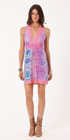 Pink Reptile Jersey Dress