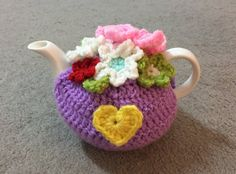 Lavendel with flowers tea cosy for a small 1 by SpecialHandmade444