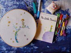 """workshop: Embroidery under the Trees # 2 คราวนี้เราย้ายเข้าข้างใน ไปอ่านเรื่อง """"เจ้าชายน้อย"""" กัน ไปตามหาความหมาย ที่เจ้าชายน้อย สนทน..."""