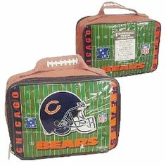 CHICAGO BEARS NFL Officially Licensed Football SOFT Lunch Box Lunch Bag by NFL. $8.99. CHICAGO BEARS Officially Licensed Football SOFT Lunch Box Lunch Bag -Team logos and NFL logos on lunch box, Helmet & Field Vinyl Lunch Box, Elastic strap inside keeps your drink upright and in place, Easy to clean vinyl construction ... wipes off easily THIS IS AN OFFICIALLY LICENSED NFL SPORTS PRODUCT WITH A Strap Inside For Drink. Great Looking Lunch Bag for the Special Fans ....