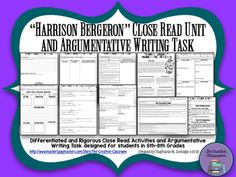 Argumentative essay on harrison bergeron