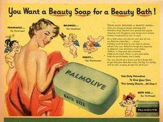Antiga ilustração publicitária.