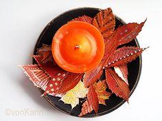 Bemalte Herbstblätter - painted leafs - DIY vonKarin