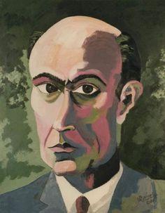 Richard Gerstl, Self-Portrait on ArtStack #richard-gerstl #art
