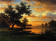 Robert Zund - Evening on the Lakeside