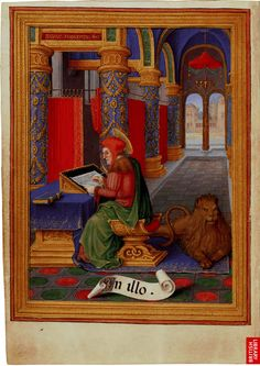 Sforza Hours - St Mark the Evangelist, c. 1490, British Library