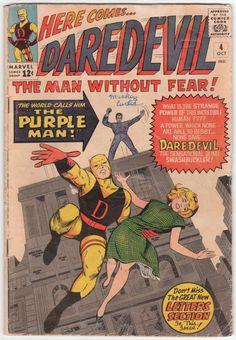Daredevil #4 G+, First Killgrave the Purple Man, Joe Orlando interior artwork, Jack Kirby cover art, $30