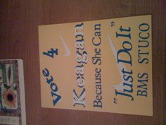 Student council poster! Just do it!