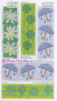 Cross-stitch bookmarks
