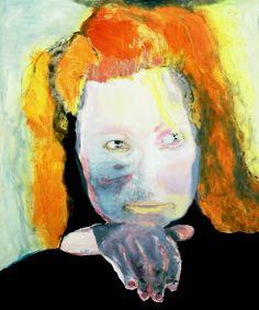 Marlene Dumas, self portrait  'Kwaad is banaal' 1984