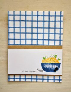 Hello There, Friend Card by Maile Belles for Papertrey Ink (May 2015)
