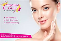 Visit our new Laser and Spa treatment center in Surrey. We will help you imp. Spa Treatments, Surrey, Teeth Whitening, Brows, Hair Follicles, Confident, Smile, Tooth Bleaching, Eyebrows