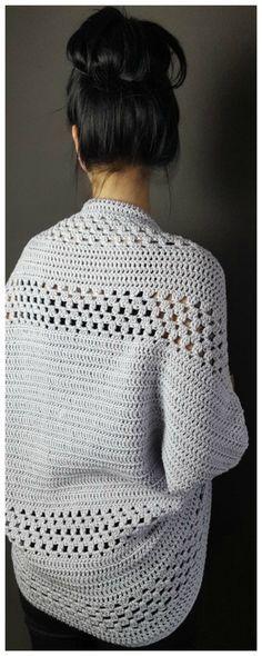 Gehäkelter Damen-Pullover mit V-Ausschnitt in 2018 | Crochet clothes ...