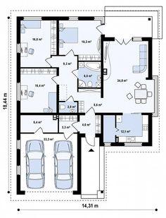 Проект дома Z200 k - план-схема 1