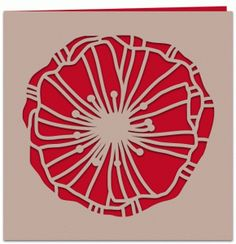 Silhouette Design Store - View Design #78828: poppy papercut 5x5 card with liner