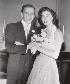 The 1951 wedding of Frank Sinatra and Ava Gardner