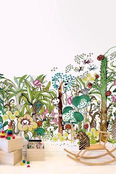 Skog – high-quality wall murals with free UK delivery Nursery Wallpaper, Kids Wallpaper, Photo Wallpaper, Boy And Girl Wallpaper, Kidsroom, Kids Bedroom, Wall Murals, Rum, Boy Or Girl