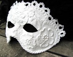 white lace masquerade mask #masquerade #mask