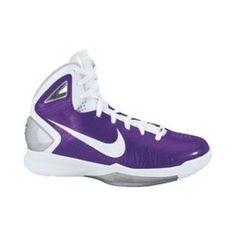 Purple basketball shoes