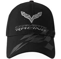 C7 Corvette Racing Jake Team Hat//Cap Black Embroidered