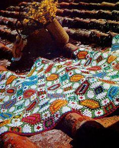 Mosaic Afghan Stash Buster PDF Crochet Pattern by MomentsInTwine