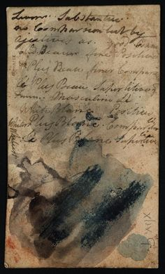 Joseph Mallord William Turner 'Inscription by Turner: Notes on French Vocabulary; Colour Trials', ?1798–1802