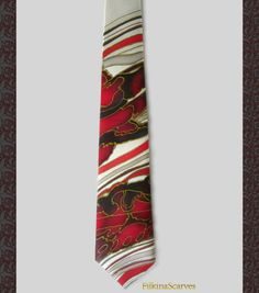 Mens Necktie-Mens SILK Tie-Silk Tie-Bordeaux Red tie-Wedding Tie-Mens tie-Mens Gifts-Hand Painted Tie-Handpainted Tie-Silk Necktie-groom  Nowadays ties are gaining more and more popularity as a fashion accessory that can be worn well beyond traditional office style dress  This Mens Tie is 100% made of natural SILK SATIN - Hand Painted and Handmade. Its one of a kind artist necktie.  An elegant Art men necktie handpainted - abstract painting in Bordeaux, Red, Black and Ivory background…