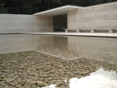 The Barcelona Pavilion designed by Mies Van Der Rohe.