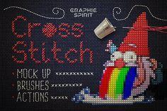 Cross Stitch Photoshop Action by Graphic Spirit on @creativemarket