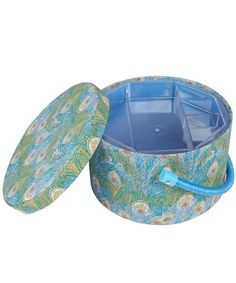 Liberty Print Hera Print Round Sewing Box