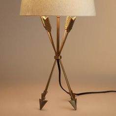 One of my favorite discoveries at WorldMarket.com: Antique Brass Arrow Accent Lamp Base