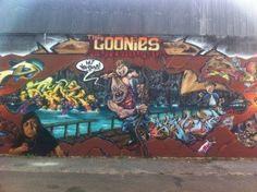 The Goonies 80s tribute street art