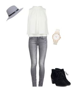"""""""Sleeveless top"""" by chicchicksstyle ❤ liked on Polyvore featuring moda, Clarks, GUESS y Miss Selfridge"""