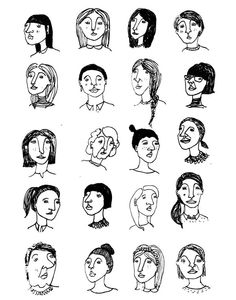 Men & Women Portrait Study by Kristina Micotti, via Behance